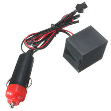 Best Price DC12V EL Inverter For EL Strip Wire Tube Driver Unit With Car Charger Plug Frequency 1000-2000 Hz(China)