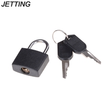 JETTING Hot Sale New Suitcase Lock with 2 Keys Black Small Mini Padlock Travel Tiny Wholesale