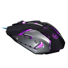RAJFOO Wired Gaming Mouse USB Optical LED Lights Mouse Gamer 3200 DPI with 6 Button For PC Laptop Desktop Computer Game