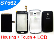 Housing cover + Touch Screen Digitizer+LCD Display For Samsung Galaxy S Duos S7562 S7560 GT-S7560 GT-S7562 white black