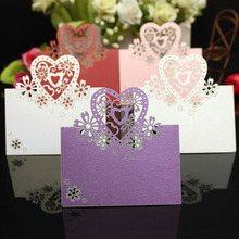 12 Pcs Purple Wedding Party Christmas Table Decoration Place Name Cards
