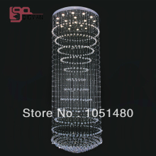 wholesales contemporary large chandeliers crystal lighting hanging hotel lobby chandelier(China)