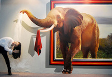 Hand painted  3d Painting   Living Room Wall Pictures  Modern Canvas  Elephant  Oil Painting Drawing Best Quality   No framed