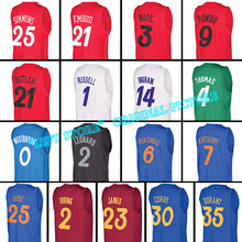 New 2016 Christmas jersey Joel Embiid 100% stitched Curry Wade Durant Russell Westbrook James Rose Leonard Butler Free Shipping