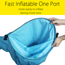 New Style Fast Inflatable One Port Camping Sofa Banana Sleeping Bag Nylon lazy laybag Air Bed Chair Lounger Saco de dormir