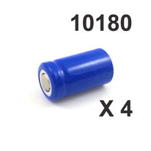 4pcs 3.7v ICR 10180 rechargeable lithium ion battery cell 100MAH  for Mini UC02 LED flashlight torch and speaker