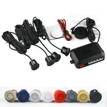 4 Sensors Buzzer No Drill Hole Saw 22mm Car Parking Sensor Kit Reverse Radar Sound Alert Indicator System 7 Colors Free Shipping