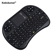 Russian Version 2.4G Mini USB Wireless Keyboard Touchpad Air Mouse Fly Mouse Remote Control for Android Windows TV Box Cellphone(China)