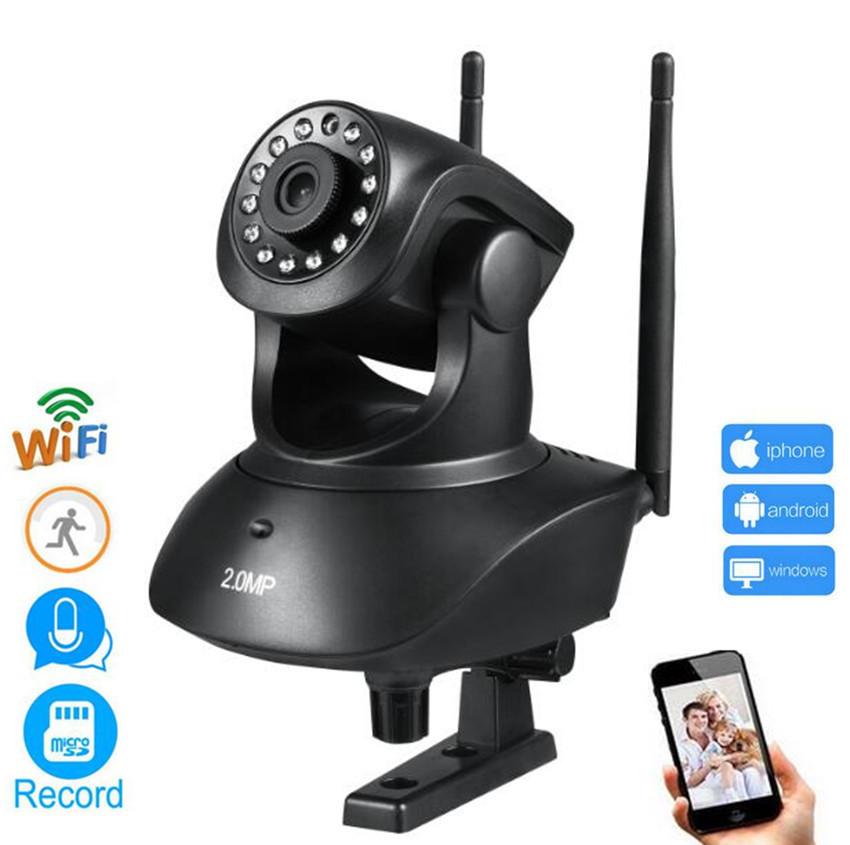 Wireless WiFi Security 2MP 1080P Camera System support Wifi Detection Motion/TF card Nightvision Two-way Audio<br>