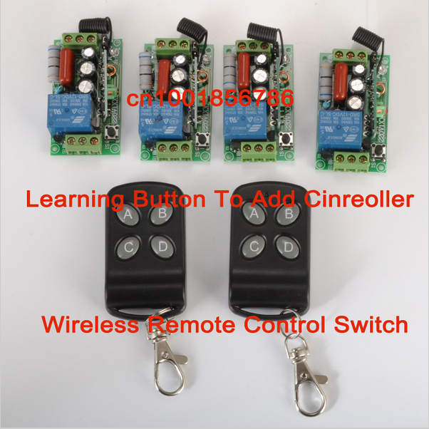 Hot !!!CCTV 220V 1CH Wireless Power Switch System 4 Receiver&amp; 2Transmitter Remote Controller 315MHZ/433MZH<br><br>Aliexpress