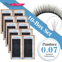 10pcs/lot 3D-6D Pandora Eyelash Extensions Volume lashes Mixed Length in One Lash Strip different length Fancy Packing Lash Box(China)