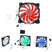 12cm LED Computer Case Fan Solar Eclipse Light Effect Ventilador Ultra Silent Cooler Processor Heatsink for CPU Processor