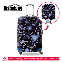 Dispalang Fashion Marble Printing Luggage Protective Covers For 18-30 Travel Suitcase Elastic Dust Cover Luggage Accessories
