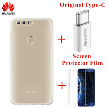100% Original Huawei Honor 8 Case TPU Transparent Soft Case for Huawei Honor 8 Luxury Back Cover with Retailed Package