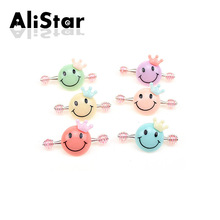 Girls lovely hairgrips fashion sweet smile design hair-wear Kids candy color hairpins  spring hair accessories #JH024