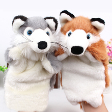 Lovely Fox Design Kid Bedtime Story Telling Accessories Doll Soft Hand Puppet For Baby Birthday Gift Cartoon Plush Hand Puppets(China)