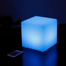 15*15*15CM LED Cube Table Light Remote Control 16 Colors Change Holiday Wedding Bar Party Event Christmas LED Lights Desk Lamp