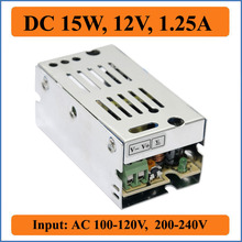 15W 12V 1.25A Small Volume Single Output Switching power supply for LED Strip Light CNC Display input AC 220V/110V transformer