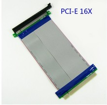 1U 2U server/computer PCI-E PCI E express 16X to 16X riser card adapter extender cable 16 pci express flexible riser 29cm