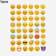 1pcs cut sticker 48 classic Emoji Smile face stickers for notebook albums , message Twitter Large Viny Instagram Classical toys(China)