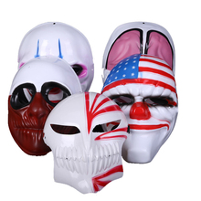 ZLJQ Harvest Day PVC Halloween Mask Clown/Captain America/Old Man/Red Head Mask For Home Wedding Party Decoration Supplies 6D