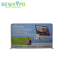 10ft*6ft Custom Size Exhibition Booth Advertising Signage Display Tension Fabric Banner Stand With Full Color Graphic Printing