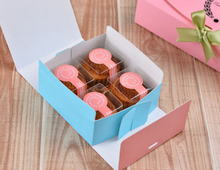 Free Shipping 500pcs/lot 4 tablets drawer bronzing macaron box chocolate biscuit muffin cake folding packed box wedding gift box(China)