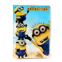 2016 Passport Cover Holder 3D Cartoon Minions Despicable 2 PVC Travel Card Case ID Holders 14*9.6cm - XZHJT Official Store store