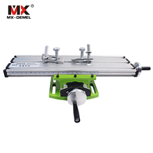 Miniature Precision Multifunction Milling Machine Table Drill Vise Fixture Worktable X Y-axis Adjustment Coordinate Table Bench