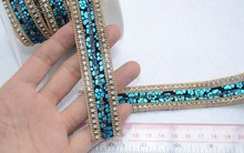 Hotfix crystal rhinestone banding,2pcs/lot,flower PU rhinestone chain,fancy belt banding,shoe chain decorative