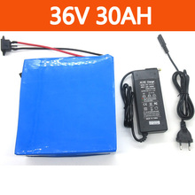 1000W 36V 30AH Electric Bike Battery 36V Lithium ion battery Use for samsung 3000mah battery cells With 30A BMS 42V 2A charger