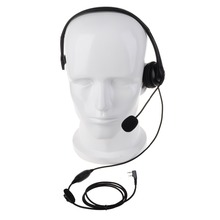 YIDATON 2 PIN Headphone Headset Mic for ICOM F3 F4 for Motorola for Cobra for Maxon Ham Radio Walkie Talke Hf Transceiver B014