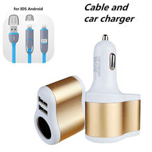 Universal Car Charger 2 USB for HTC Shadow Desire (CDMA)  Cigarette Lighter Power Socket Adapter for Landrover Freelander DC100