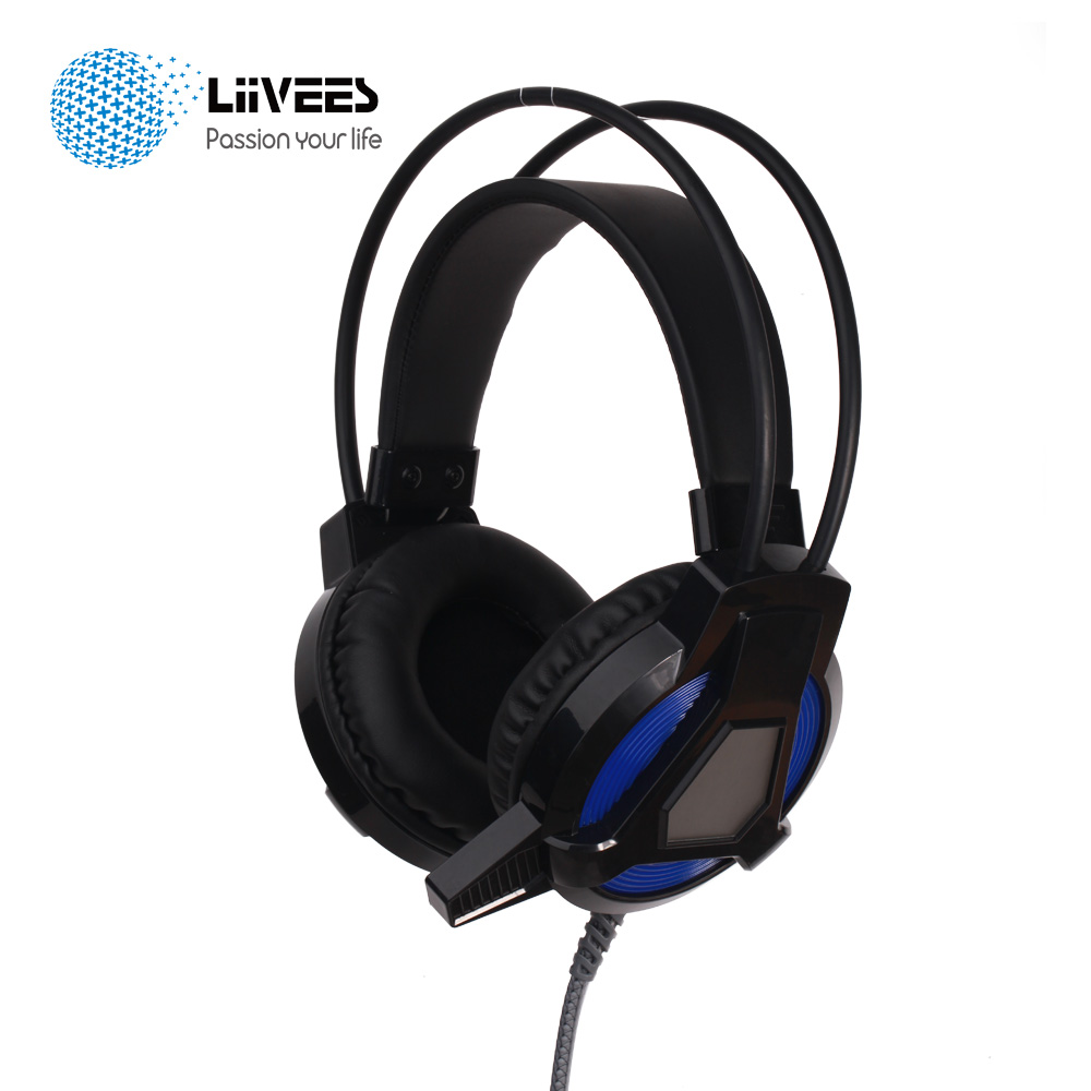 LiiVEES CA High-End Genuine Wired Earphone Gaming Headset Gamer PC 3.5mm &amp; USB Super COMFORTABLE Headphone With Mic For Computer<br>