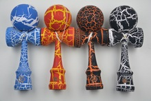 MOQ 60 piece full Crack Paint Kendama Ball Japanese Traditional Toy Balls  size: 25CM*8cm  Free shipping