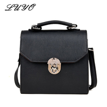 LUYO Summer New Arrival Vintage Pu Leather Small Flap Women Shoulder Postman Bag Cross Body Bolsa Feminina Bags Female