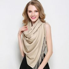 2107 hot! Brand 200*60cm Wool & Cashmere Pashmina Shawls 21Colors women scarves Wool scarf wool Solid winter shawls and scarves