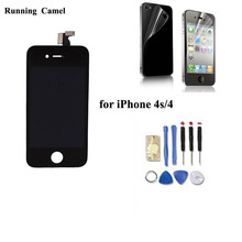 Running Camel LCD Screen For iPhone 4 4S LCD Display Screen Replacement repair part,For iPhone 4 4S Lcd + Touch Screen Digitizer(China)