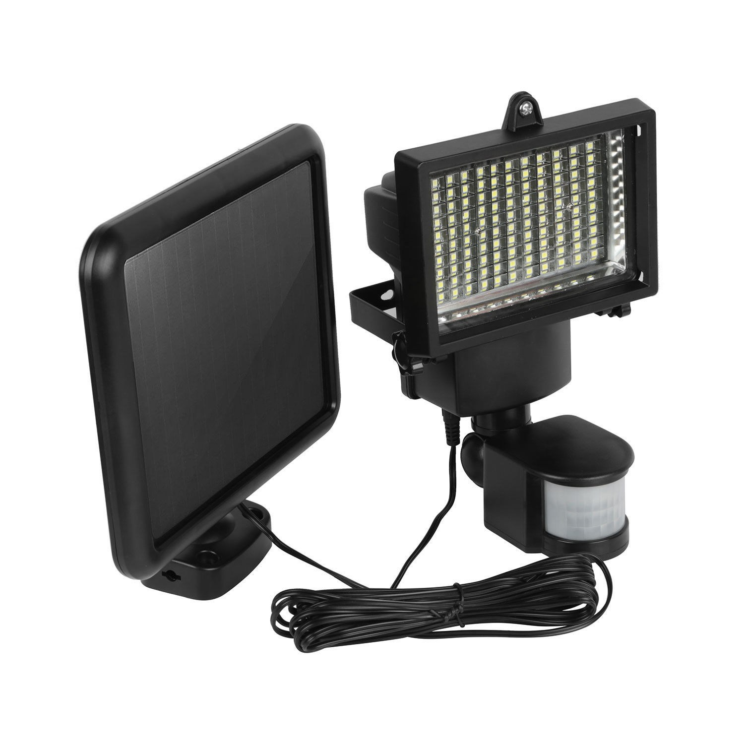 Safurance 100 LED Solar Panel Sensor Light Outdoor Security Floodlights Garden Motion HOT Building Automation<br>