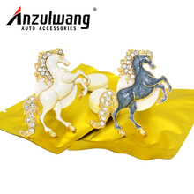 ANZULWANG white horse gray horse car model air freshener car air conditioning ventilation port car air export perfume(China)