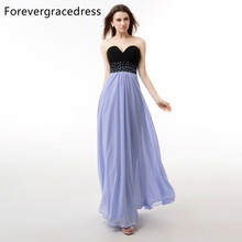 Forevergracedress Real Sample Lavender Color Evening Dress A Line Sweetheart Beaded Long Chiffon Formal Party Gown Plus Size(China)