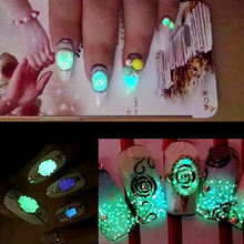 MIOBLET Fluorescence Nail Art Decoration Luminous Sand Nail DIY Manicure Ornament Bright Nail Art Glow In The Dark Sand Powder