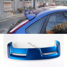 Blue Rear Roof Spoiler Wing Lip ST Style for Ford Focus Bumper 12-13
