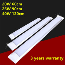 8pcs/lot 40W 120cm 26W LED Batten Tube Light Cold White/Warm Whtie 2835SMD LED light, AC85-265V CE RoHS DHL UPS Free Shipping(China)
