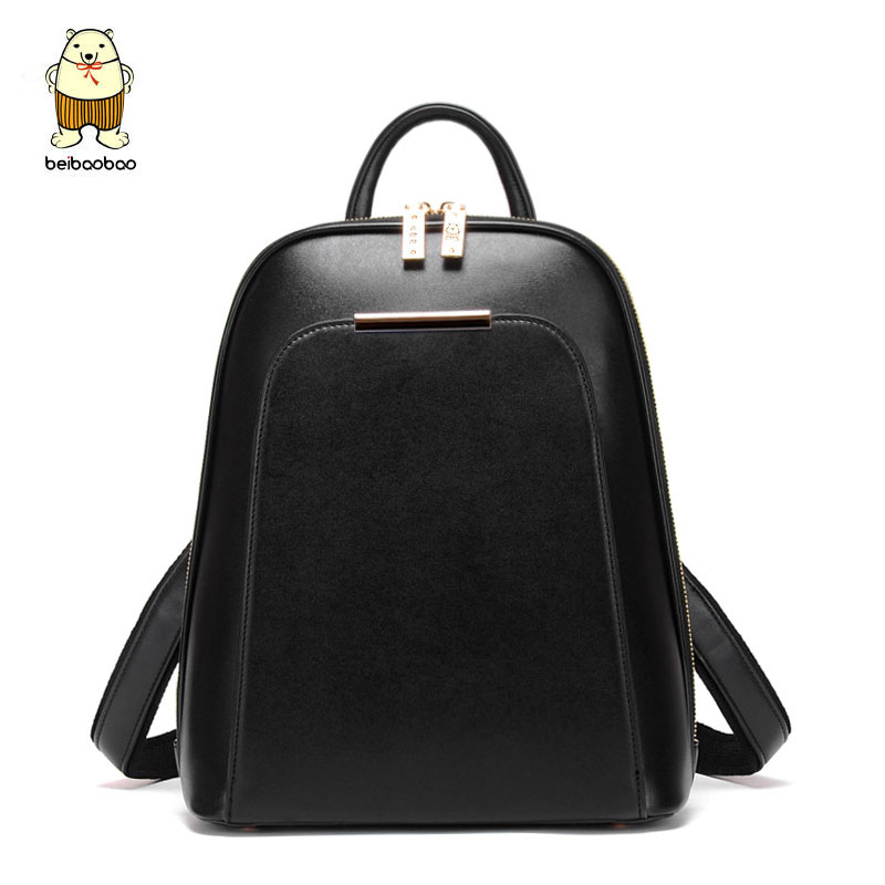 Beibaobao 2018 PU Leather Backpacks For Teenage Girls Fashion Girls Backpacks High Quality Simple Design Women Backpacks B150<br>