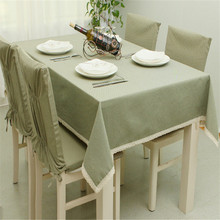 100% Cotton Table Cloth Rectangle Green Grids Table Covers Dustproof Thick Tablecloths For Wedding Home Party Decor