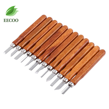 12pcs/Lot Woodcut Cutter Knife Set Hand Wood Carving Chisels for Woodworking DIY Tools(China)