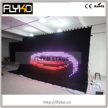Free shipping 4*6m p10 LED display wall led curtain screen