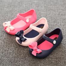 2017 Summer Mini sed New boots Girls sandals Children girls shoes Korean bow Sandals jelly fish head Boots Kids shoes