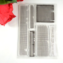 Coolhoo 1pc TPR silicon clear Stamp Grid DIY Scrapbooking/Card Making/ Decoration Supplies